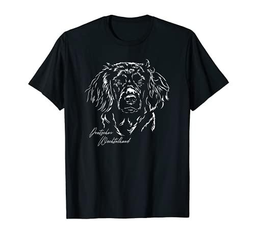 Deutscher Wachtelhund Jagd Jagdhunde Hundeportrait Hunde T-Shirt